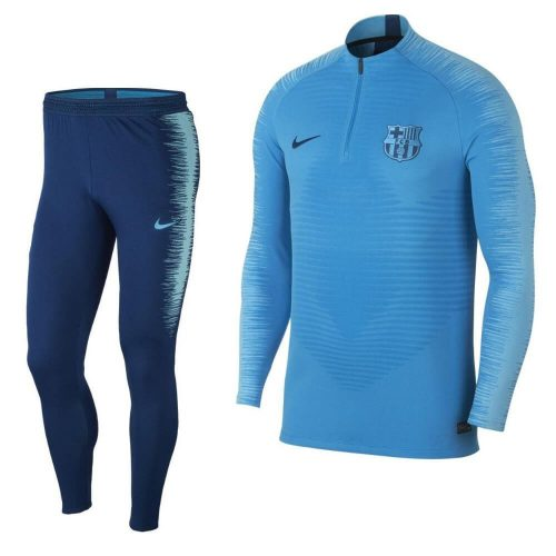 Nike FC Barcelona VaporKnit Strike Trainingspak 2018-2019 Lichtblauw Blauw