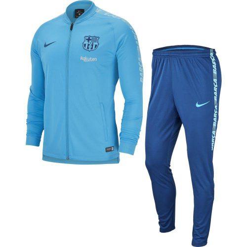 Nike FC Barcelona Dry Squad Trainingspak 2018-2019 Kids Lichtblauw