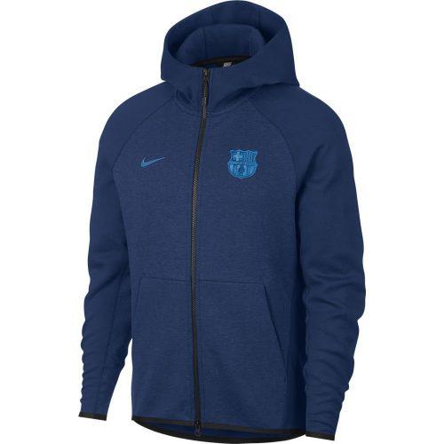 Nike FC Barcelona Tech Fleece Hoodie Blauw