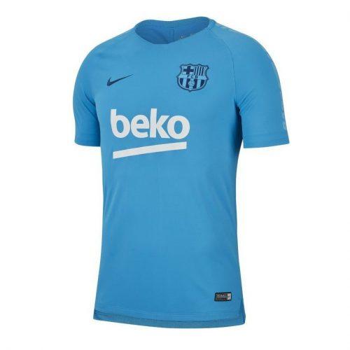 Nike FC Barcelona Breathe Squad Trainingsshirt 2018-2019 Lichtblauw