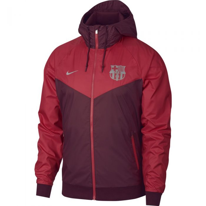 Nike FC Barcelona Authentic Windrunner 2018-2019 Bordeauxrood Rood