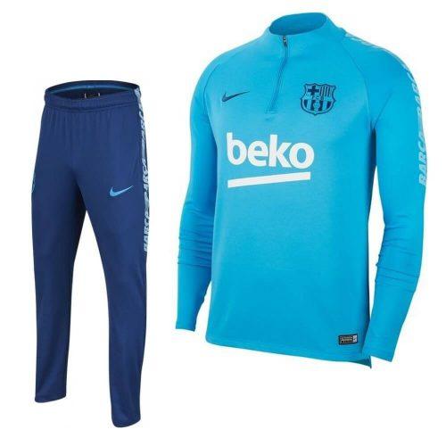 Nike FC Barcelona Drill Trainingspak 2018-2019 Lichtblauw Donkerblauw