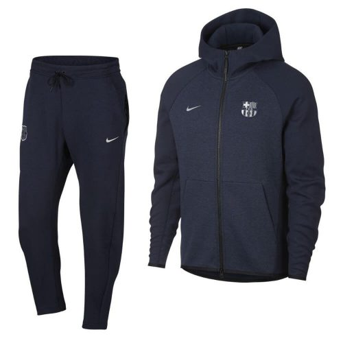 Nike FC Barcelona Tech Fleece Trainingspak Donkerblauw Zilver