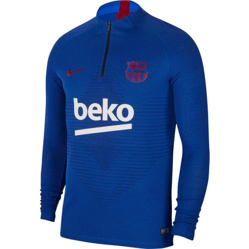 Nike FC Barcelona VaporKnit Strike Trainingstrui 2019-2020 Blauw Rood