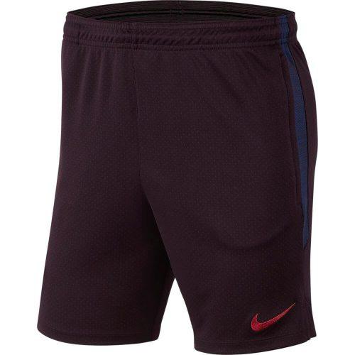 Nike FC Barcelona Dry Strike Trainingsbroekje KZ 2019-2020 Kids Donkerrood Blauw