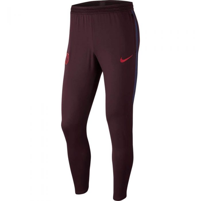 Nike FC Barcelona Dry Strike Trainingsbroek KP 2019-2020 Kids Donkerrood Blauw