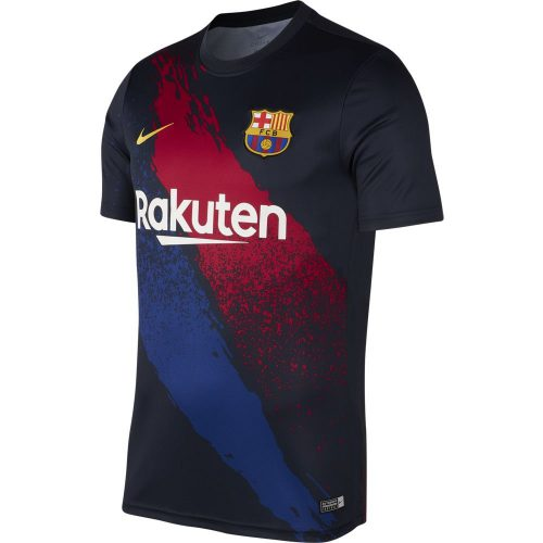 Nike FC Barcelona Dry Pre Match Trainingsshirt 2019-2020 Blauw Geel