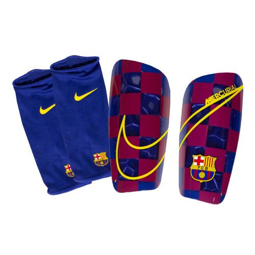 Nike FC Barcelona Mercurial Lite Scheenbeschermers Blauw Rood Goud