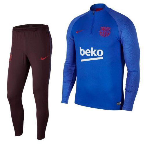 Nike FC Barcelona Strike Trainingspak 2019-2020 Kids Blauw Rood
