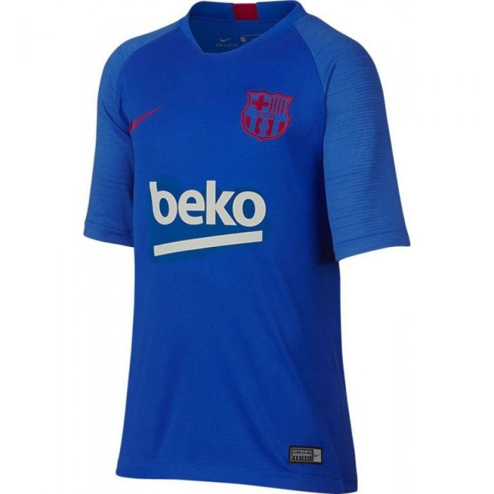 Nike FC Barcelona Breathe Strike Trainingsshirt 2019-2020 Kids Blauw