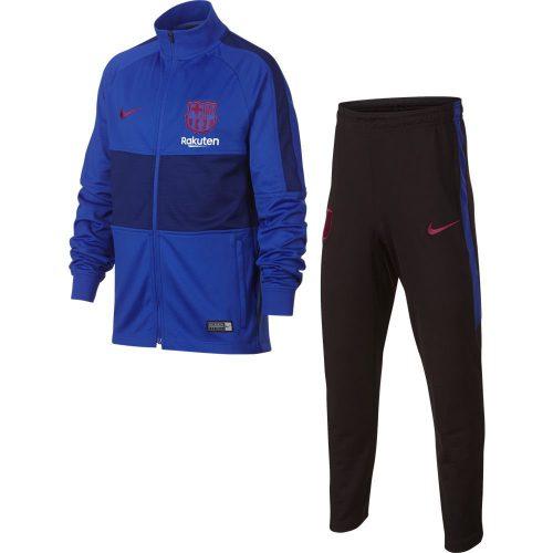 Nike FC Barcelona Dry Strike Trainingspak 2019-2020 Kids Blauw Rood