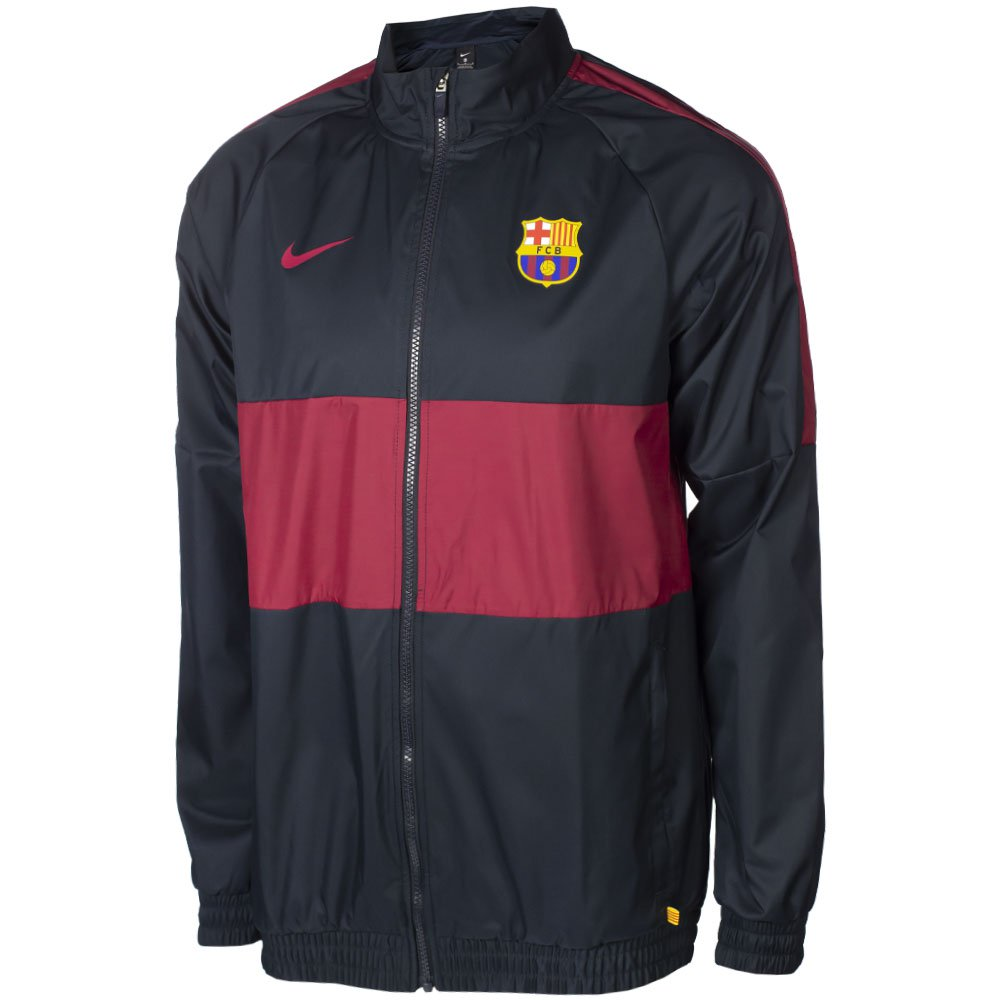 Nike FC Barcelona Trainingsjack Woven ST 2019-2020 Donkerblauw