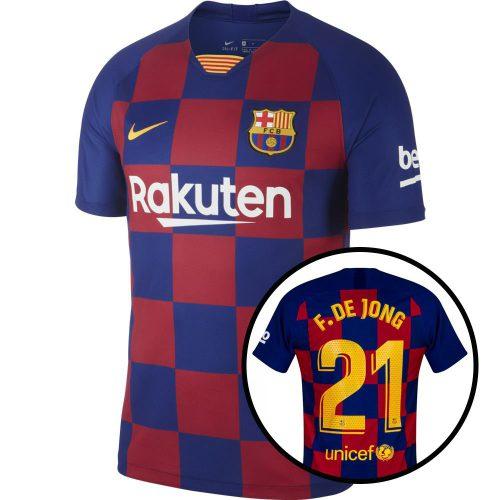 Nike FC Barcelona Thuisshirt 2019-2020 F. De Jong 21 Kids