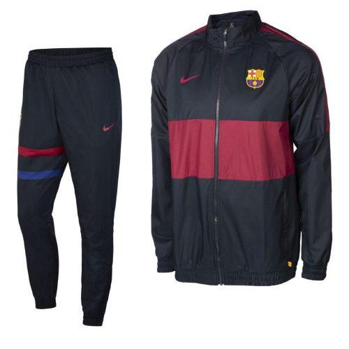 Nike FC Barcelona ST Trainingspak Woven 2019-2020 Donkerblauw Rood