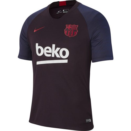 Nike FC Barcelona Breathe Strike Trainingsshirt 2019-2020 Rood