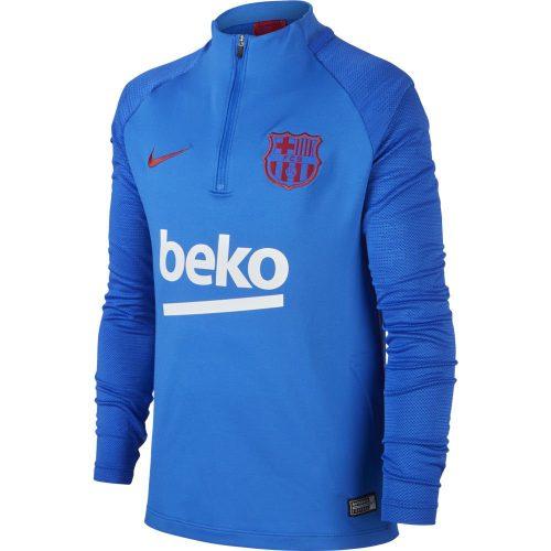 Nike FC Barcelona Dry Strike Trainingstrui 2019-2020 Kids Blauw Rood