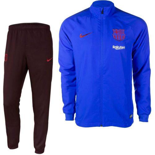 Nike FC Barcelona Dry Strike Woven Trainingspak 2019-2020 Blauw Rood