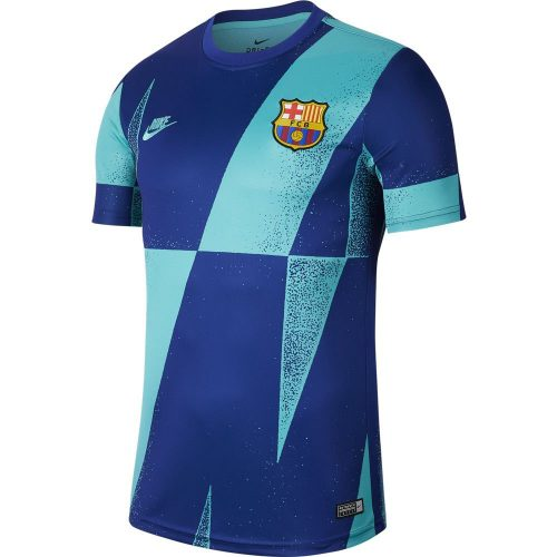 Nike FC Barcelona Dry Pre Match Champions League Trainingsshirt 2019-2020 Blauw