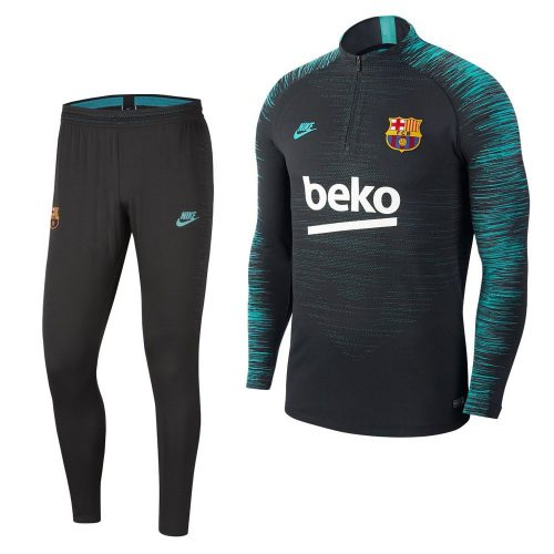 Nike FC Barcelona VaporKnit Strike Trainingspak Champions League 2019-2020 Donkergrijs Groen