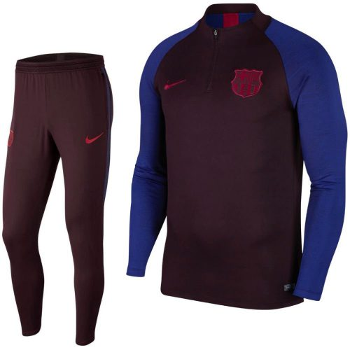 Nike FC Barcelona Dry Strike Drill Trainingspak 2019-2020 Donkerrood Blauw