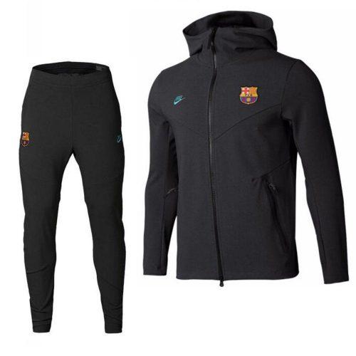 Nike FC Barcelona Tech Fleece Pack Trainingspak 2019-2020 Antraciet