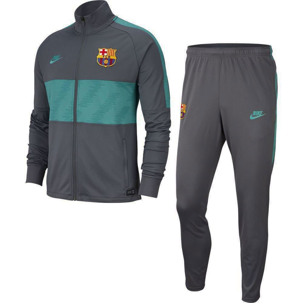 Nike FC Barcelona Dry Strike Trainingspak Kids 2019-2020 Antraciet