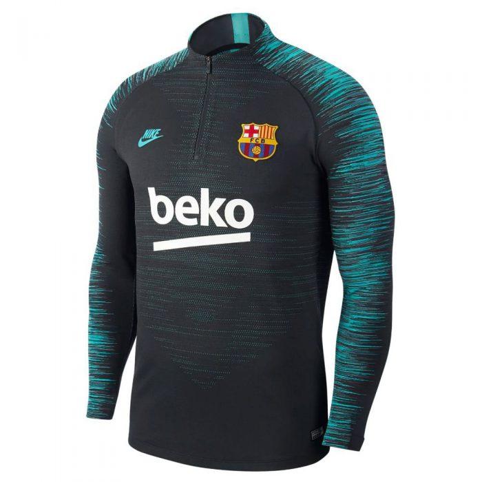 Nike FC Barcelona VaporKnit Strike Trainingstrui 2019-2020 Zwart Grijs