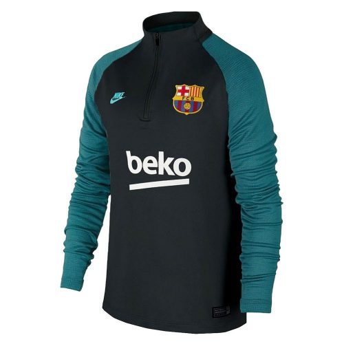 Nike FC Barcelona Dry Strike Trainingstrui 2019-2020 Kids Grijs Zwart