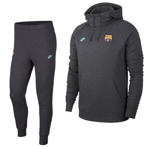 Nike FC Barcelona GFA Fleece Trainingspak 2019-2020 Donkergrijs