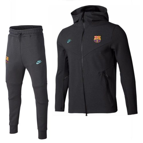 Nike FC Barcelona Tech Fleece Trainingspak 2019-2020 Kids Antraciet