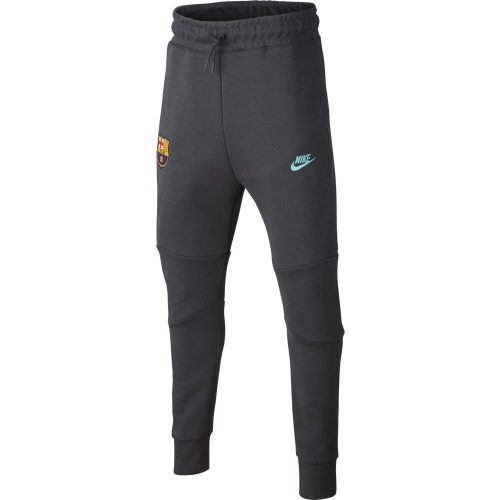 Nike FC Barcelona NSW Tech Fleece Trainingsbroek 2019-2020 Kids Antraciet Lichtblauw