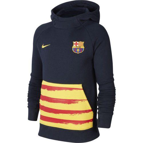 Nike FC Barcelona GFA Fleece Hoodie 2019-2020 Kids Donkerblauw Geel Rood