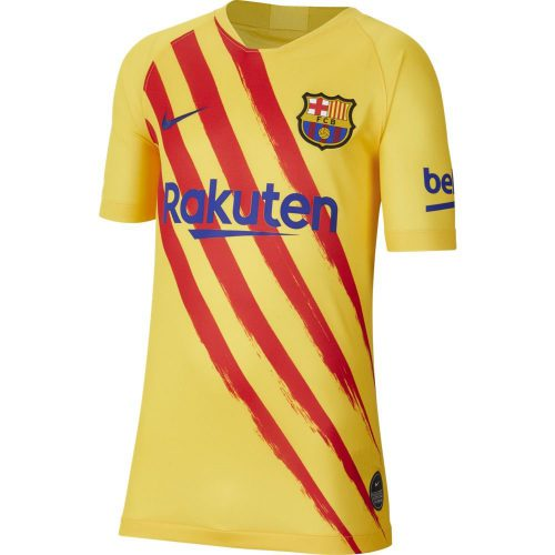 Nike FC Barcelona Stadium Voetbalshirt 2019-2020 Kids Geel Rood