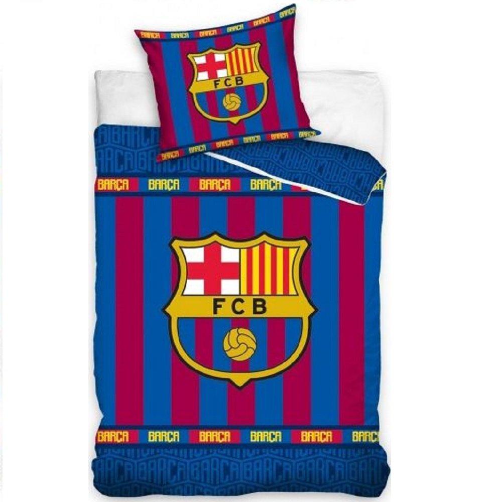 Dekbed FC Barcelona Blauw Rood Strepen 140x200cm - 60x70cm
