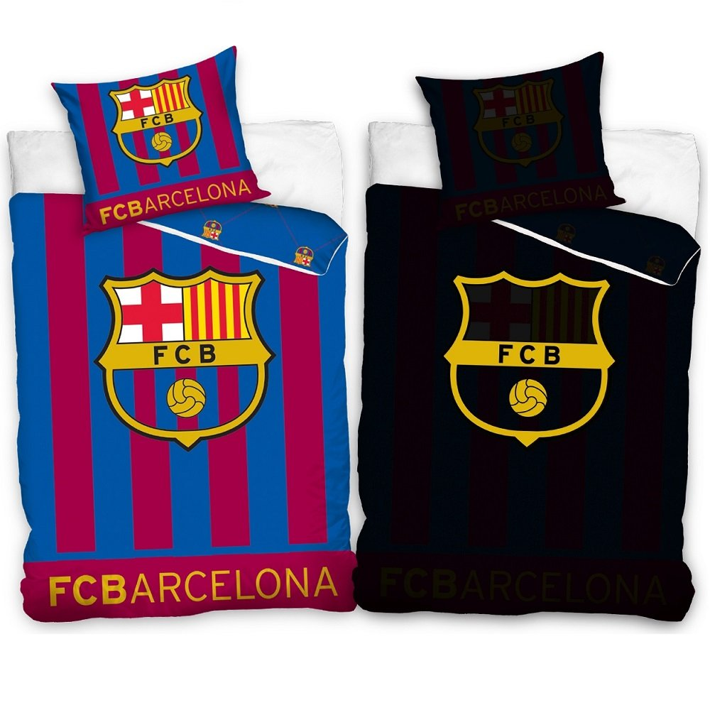 Dekbed FC Barcelona Glow 140x200cm - 70x90cm Blauw Rood