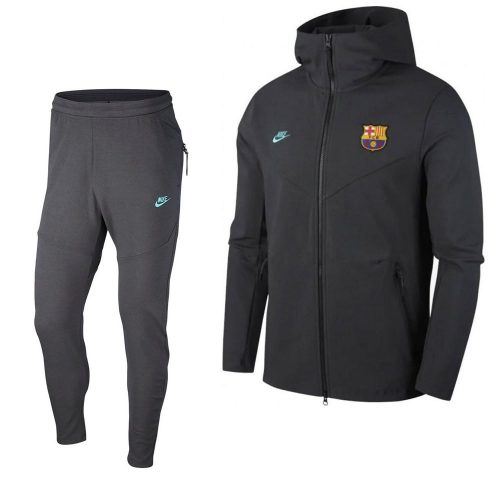 Nike FC Barcelona Tech Fleece Pack Trainingspak 2019-2020 Antraciet