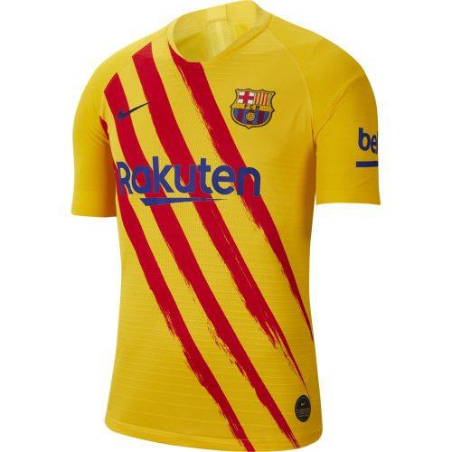 Nike FC Barcelona CL Vapor Match Voetbalshirt 2019-2020 Geel Rood