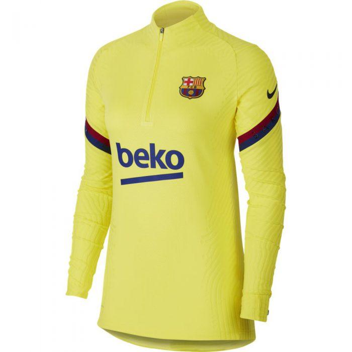 Nike FC Barcelona Strike NextGen VaporKnit Trainingstrui 2019-2020 Geel