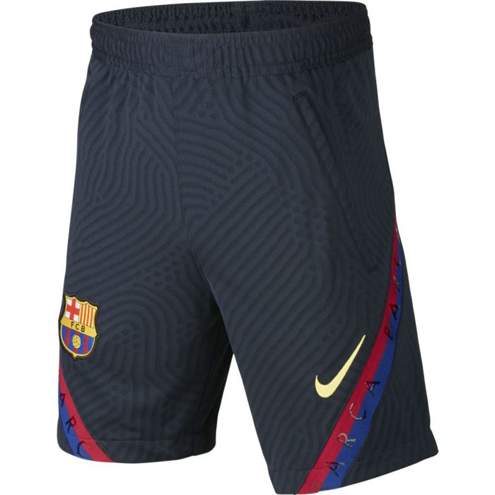 Nike FC Barcelona Dry Strike Trainingsbroekje KZ 2019-2020 Kids Donkerblauw