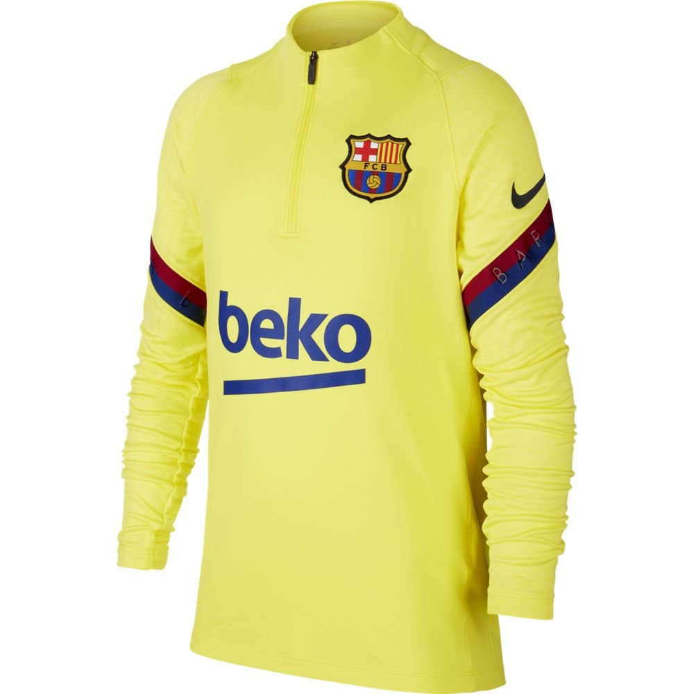 Nike FC Barcelona Dry Strike Trainingstrui 2019-2020 Geel