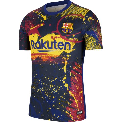 Nike FC Barcelona Breathe Pre Match Trainingsshirt 2019-2020 Donkerblauw Geel Rood