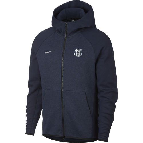 Nike FC Barcelona Tech Fleece Hoodie Donkerblauw Zilver