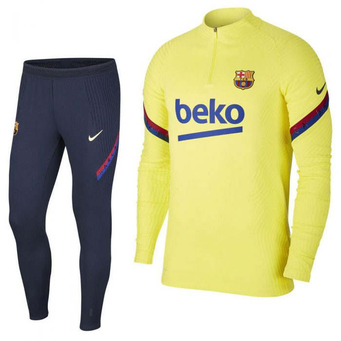 Nike FC Barcelona Next Gen VaporKnit Trainingspak 2020 Geel Blauw