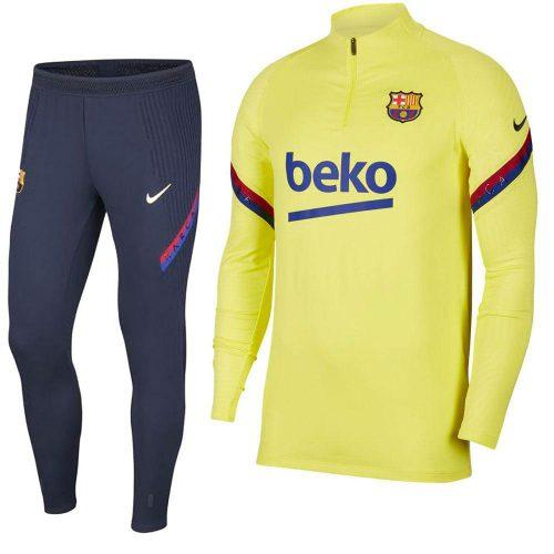 Nike FC Barcelona Strike Trainingspak 2020 Geel Blauw