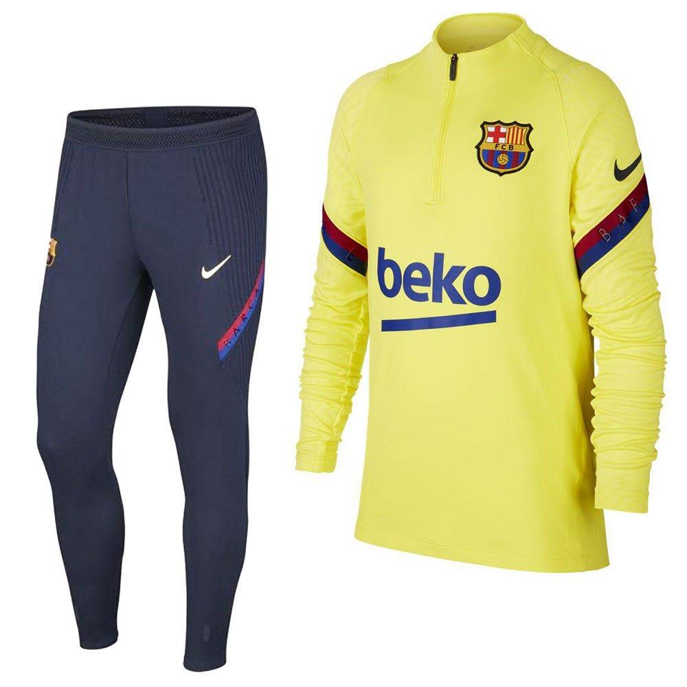 Nike FC Barcelona Strike Trainingspak 2019-2020 Kids Geel Blauw