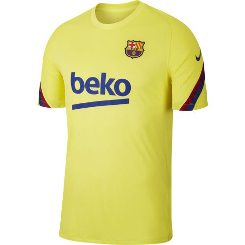 Nike FC Barcelona Breathe Strike Trainingsshirt 2019-2020 Geel