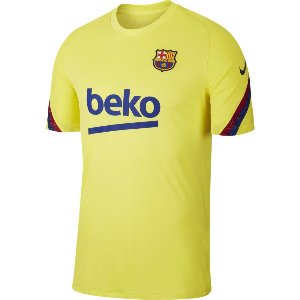 Nike FC Barcelona Breathe Strike Trainingsshirt 2019-2020 Geel