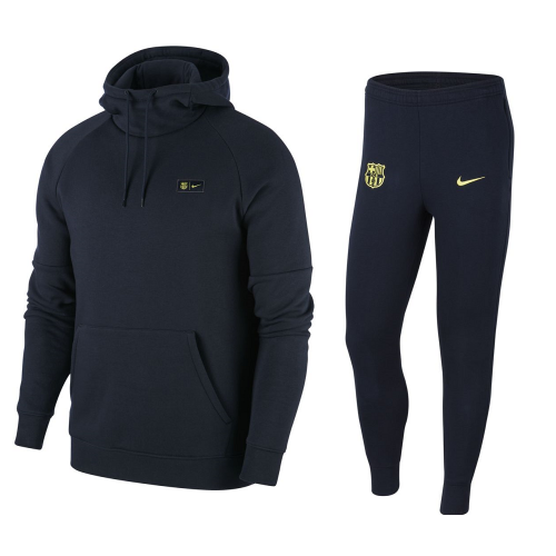 Nike FC Barcelona Fleece Trainingspak 2019-2020 Blauw Geel