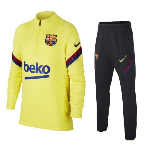 Nike FC Barcelona Strike Trainingspak 2020-2021 Kids Geel Blauw