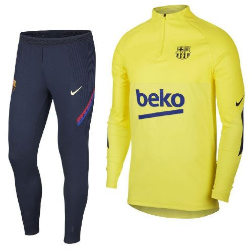 Nike FC Barcelona Next Gen Strike VaporKnit Trainingspak Winter Warrior 2019-2020 Geel Blauw